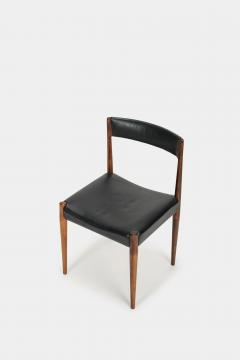 Danish rosewood chair 60s with black leather - 1937909