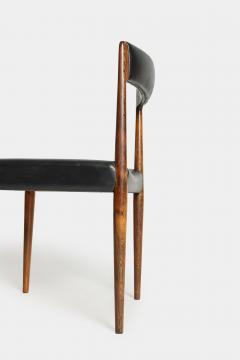 Danish rosewood chair 60s with black leather - 1937912