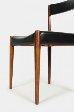 Danish rosewood chair 60s with black leather - 1937915