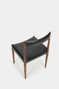 Danish rosewood chair 60s with black leather - 1937955