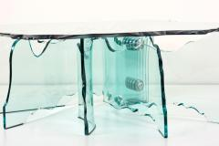Danny Lane Huge Crystal Cut Glass Shell Coffee Table by Danny Lane for Fiam - 971852