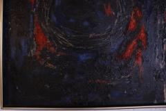 Dark Abstract Oil Painting - 1188601