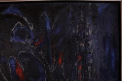 Dark Abstract Oil Painting - 1188603