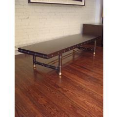 dark mahogany faux bamboo coffee table