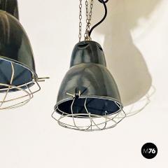 Dark gray industrial chandeliers 1960s - 2034724