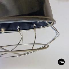 Dark gray industrial chandeliers 1960s - 2034728