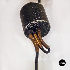 Dark gray industrial chandeliers 1960s - 2034735