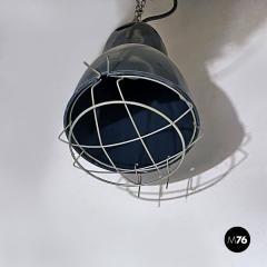 Dark gray industrial chandeliers 1960s - 2034736