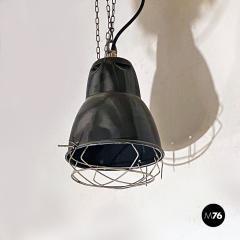 Dark gray industrial chandeliers 1960s - 2034737
