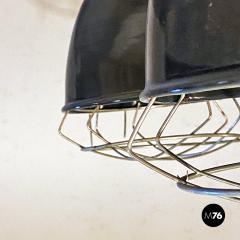 Dark gray industrial chandeliers 1960s - 2034743
