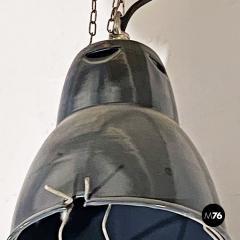 Dark gray industrial chandeliers 1960s - 2034744