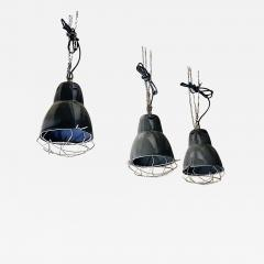 Dark gray industrial chandeliers 1960s - 2036360