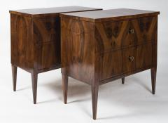 Darker Pair Of Biedermeier Chest Of Drawers - 1399389