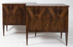 Darker Pair Of Biedermeier Chest Of Drawers - 1399390