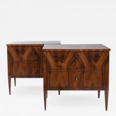 Darker Pair Of Biedermeier Chest Of Drawers - 1400215