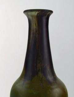 Daum Nancy Colossal art deco vase in mouth blown art glass in green and brown shades - 1322056