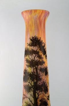 Daum Nancy Colossal floor vase Paysage soleil couchant Landscape with sunset  - 1322022