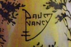 Daum Nancy Colossal floor vase Paysage soleil couchant Landscape with sunset  - 1322032