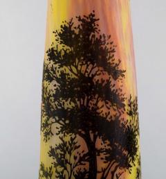 Daum Nancy Colossal floor vase Paysage soleil couchant Landscape with sunset  - 1322034