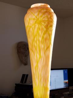 Daum Nancy Daum Nancy Vase Art Nouveau Cameo French Art Glass 20 5 inches - 1184519