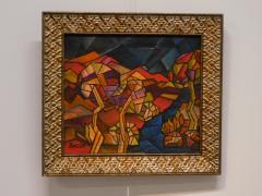 David Davidovich Burliuk David Burliuk untitled abstract oil on canvas - 1092907