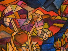 David Davidovich Burliuk David Burliuk untitled abstract oil on canvas - 1092910