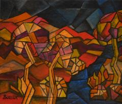 David Davidovich Burliuk David Burliuk untitled abstract oil on canvas - 1108647