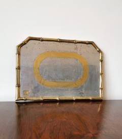 David Marshall Rare Cast Aluminum and Brass Brutalist Tray by David Marshall Spain 1970s - 1249812