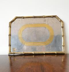 David Marshall Rare Cast Aluminum and Brass Brutalist Tray by David Marshall Spain 1970s - 1249813