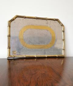 David Marshall Rare Cast Aluminum and Brass Brutalist Tray by David Marshall Spain 1970s - 1249814