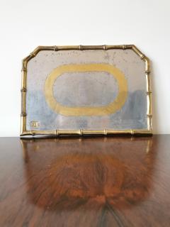 David Marshall Rare Cast Aluminum and Brass Brutalist Tray by David Marshall Spain 1970s - 1249817
