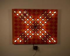 David Szfranski David Szfranski Pink Psychedelic Mechanical Blinking Light Sculpture - 1471931