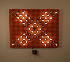 David Szfranski David Szfranski Pink Psychedelic Mechanical Blinking Light Sculpture - 1471933