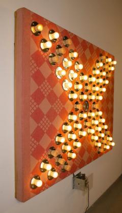 David Szfranski David Szfranski Pink Psychedelic Mechanical Blinking Light Sculpture - 1471935