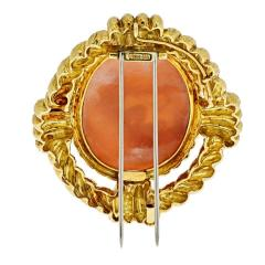 David Webb DAVID WEBB 18K YELLOW GOLD CAMEO SAGITTARIUS BROOCH - 1932096
