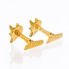 David Webb DAVID WEBB 18K YELLOW GOLD FOXES CUFF LINKS - 1818451