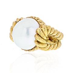 David Webb DAVID WEBB 18K YELLOW GOLD MABE PEARL RING - 1941053