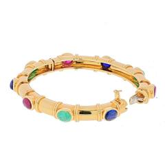 David Webb DAVID WEBB 18K YELLOW GOLD MULTI COLOR GEMSTONE BRACELET - 1941059
