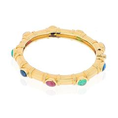 David Webb DAVID WEBB 18K YELLOW GOLD MULTI COLOR GEMSTONE BRACELET - 1941060