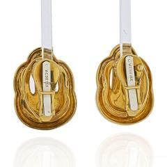 David Webb DAVID WEBB 18K YELLOW GOLD SIMPLE CLIP ON EARRINGS - 2000022