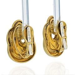 David Webb DAVID WEBB 18K YELLOW GOLD SIMPLE CLIP ON EARRINGS - 2000023