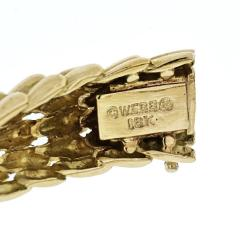 David Webb DAVID WEBB 18K YELLOW GOLD TWIST ROPE SECTIONAL FISHSCALE FLEXIBLE BRACELET - 1941046