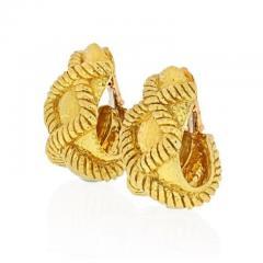 David Webb DAVID WEBB 18K YELLOW GOLD X MOTIF HAMMERED CLIP ON EARRINGS - 1858653