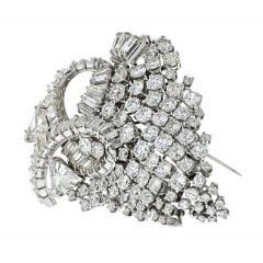 David Webb DAVID WEBB 1960S IMPRESSIVE 25 CARAT DIAMOND CLUSTER BROOCH - 1932082