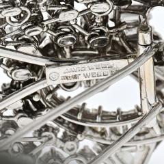 David Webb DAVID WEBB 1960S IMPRESSIVE 25 CARAT DIAMOND CLUSTER BROOCH - 1932083