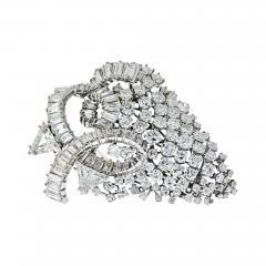 David Webb DAVID WEBB 1960S IMPRESSIVE 25 CARAT DIAMOND CLUSTER BROOCH - 1934866