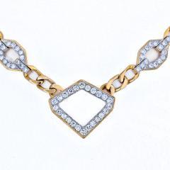 David Webb DAVID WEBB 4 CARAT DIAMOND STATIONS LINK GOLD NECKLACE - 2000025
