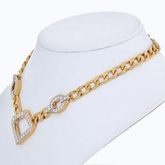David Webb DAVID WEBB 4 CARAT DIAMOND STATIONS LINK GOLD NECKLACE - 2000027