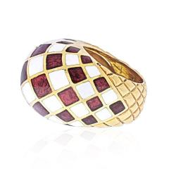 David Webb DAVID WEBB PLATINUM 18K YELLOW GOLD CHECKERBOARD DOME RING - 1932132