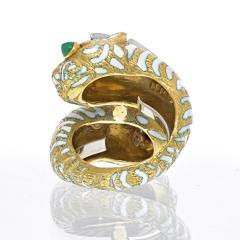 David Webb DAVID WEBB PLATINUM 18K YELLOW GOLD CROSSOVER TIGER RING - 2029565